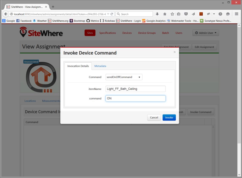 SiteWhere Documentation | OpenHAB
