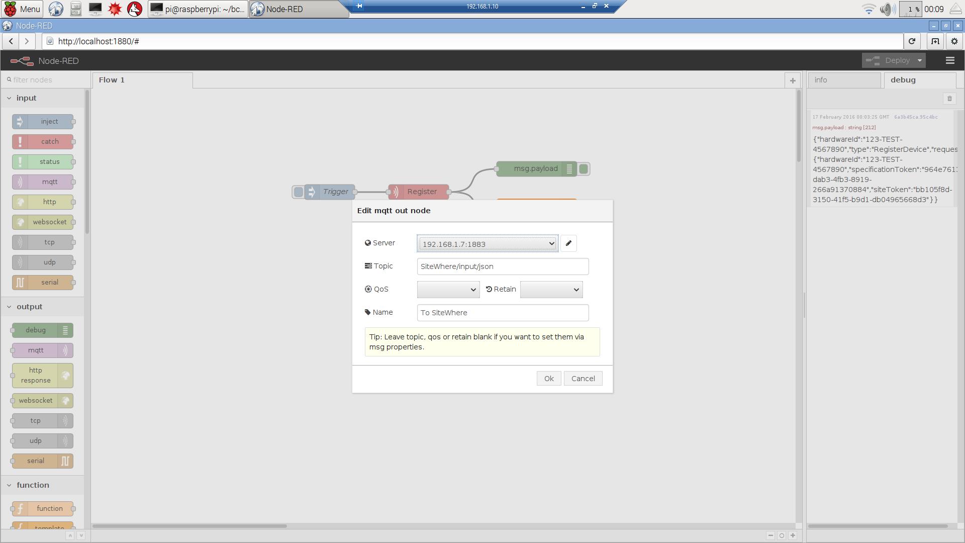 SiteWhere Documentation | Raspberry Pi DHT11 Sensor Tutorial