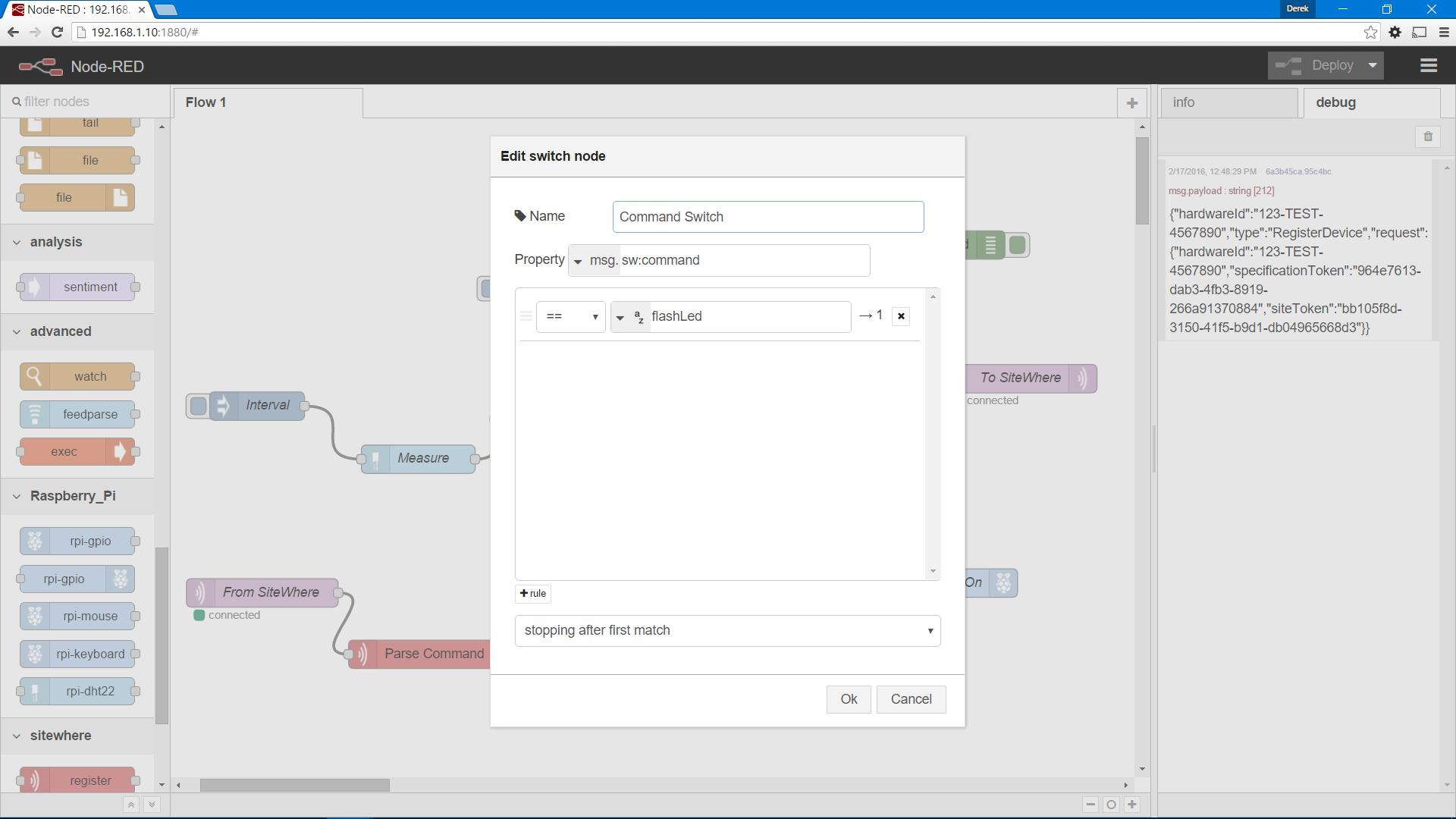 SiteWhere Documentation | Raspberry Pi DHT11 Server Logic